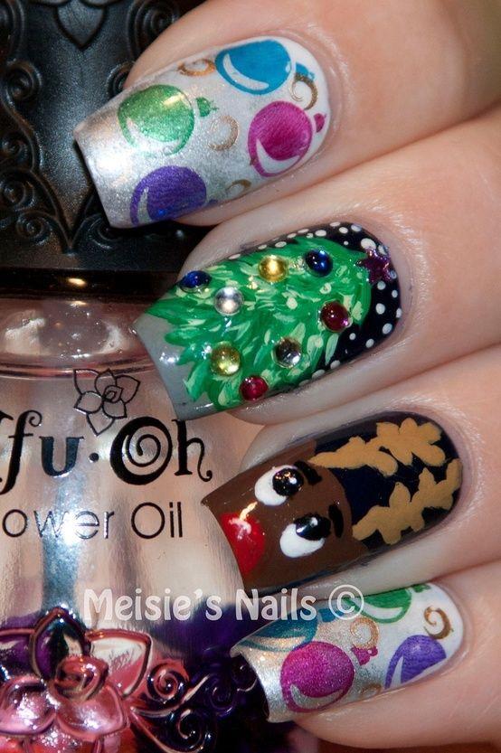 Christmas Nail Art Nails Pinterest Uñas Navidad Uñas