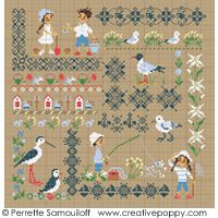Seaside motif sampler (large)cross stitch patternby Perrette Samouiloff