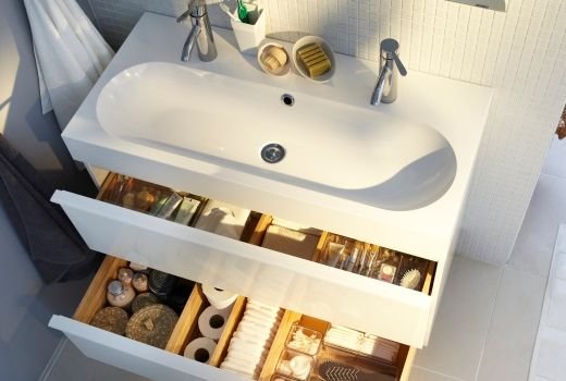 1000 images about double vasque on pinterest grey bathrooms double sinks and vanities - Interieur Meuble De Salle De Bain Ikea Godmorgon
