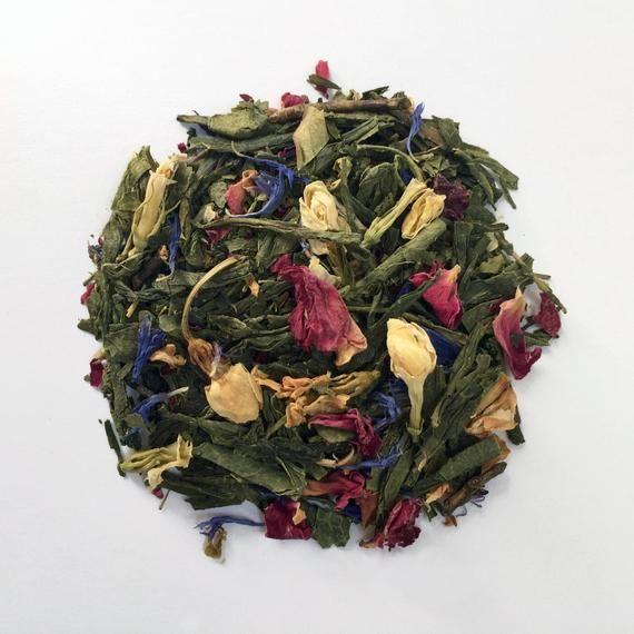 Photo of Green Tea with Jasmine and Rose: Royal Swan Chari-Tea, floral tea, loose tea, te…