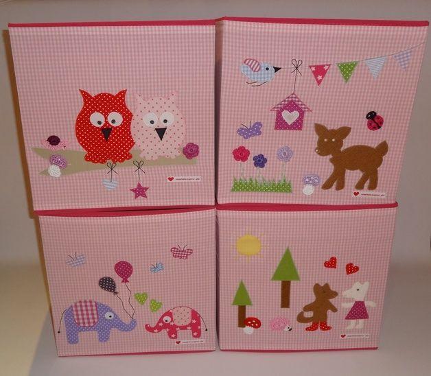 kisten boxen spielzeugbox verliebte elefanten ein designerst ck von naehdesigns bei. Black Bedroom Furniture Sets. Home Design Ideas