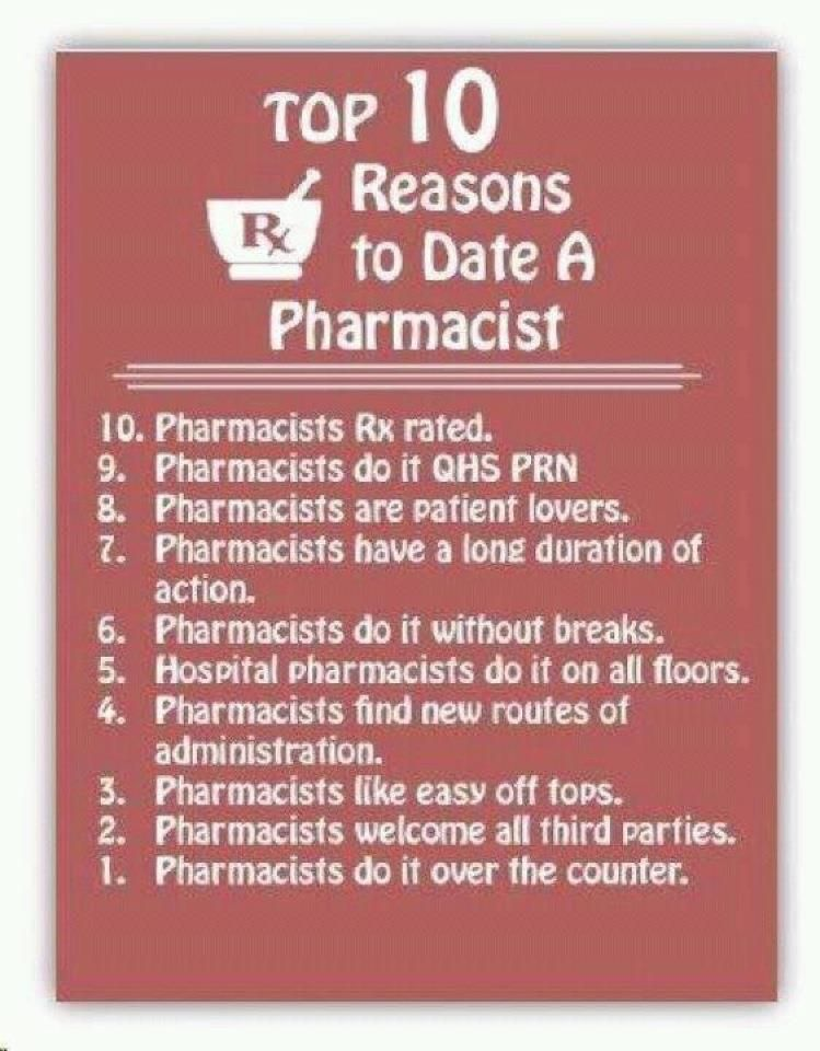 Top 10 Reasons For Dating A Pharmacist