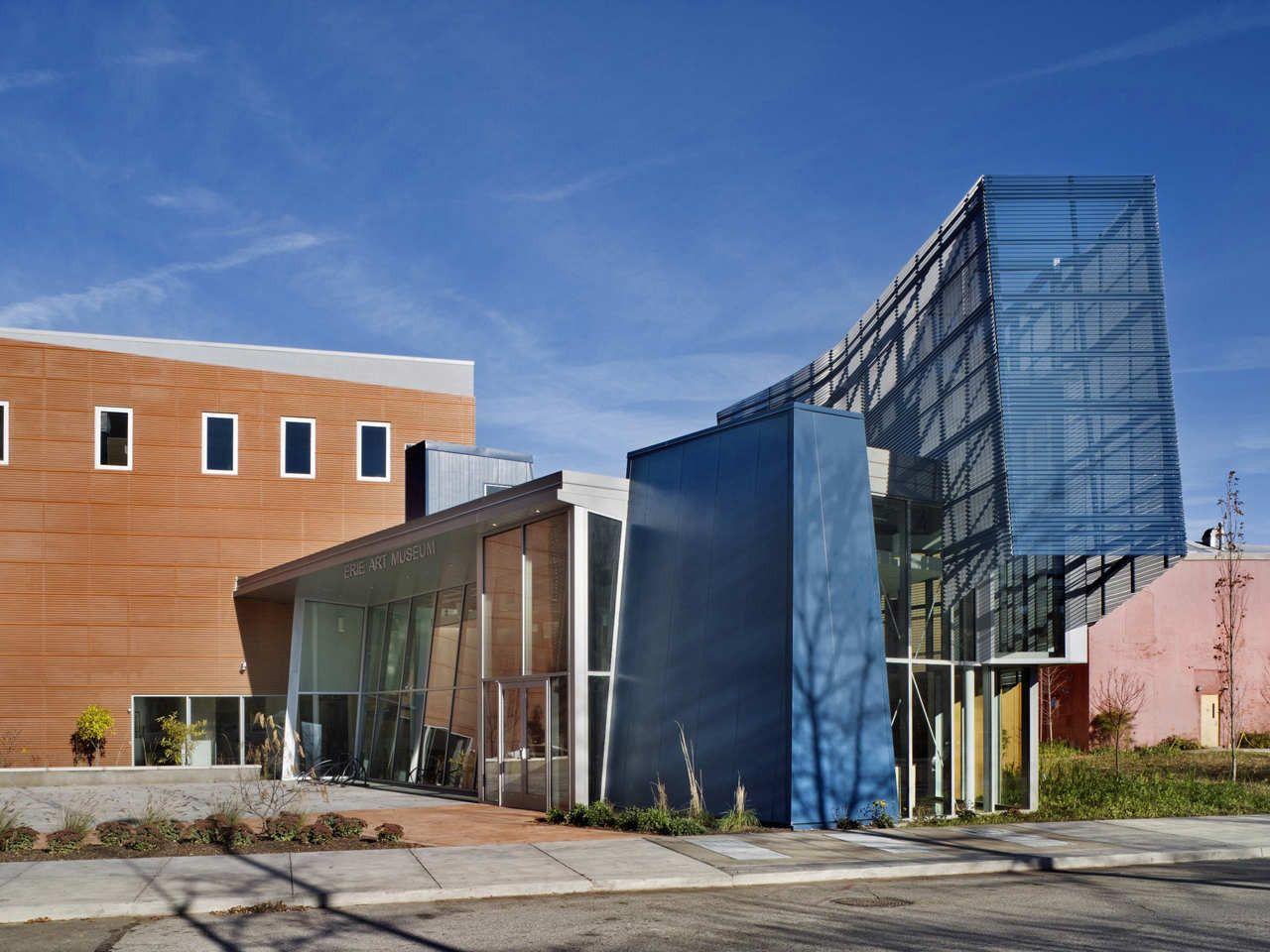 Erie art museum gbbn cultural architecture green