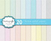 40% OFF 20 chevron digital paper pack, commercial use, scrapbook papers, instant download - PGPSPK583