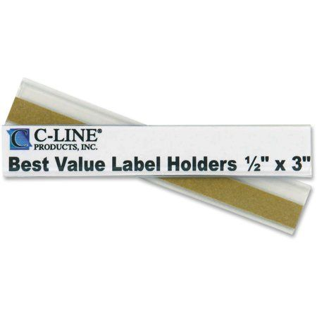 C-Line Self-Adhesive Label Holders, Top Load, 1/2 x 3, Clear