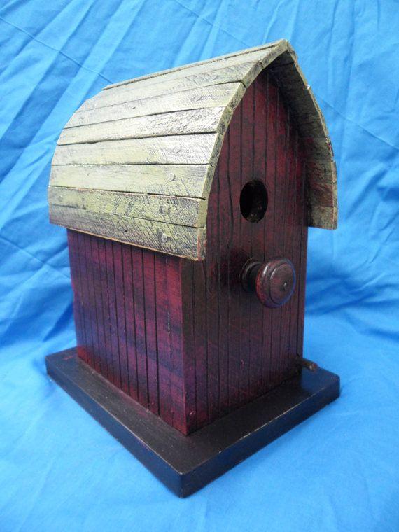 Barn birdhouse, functional birdhouse, rustic birdhouse ...