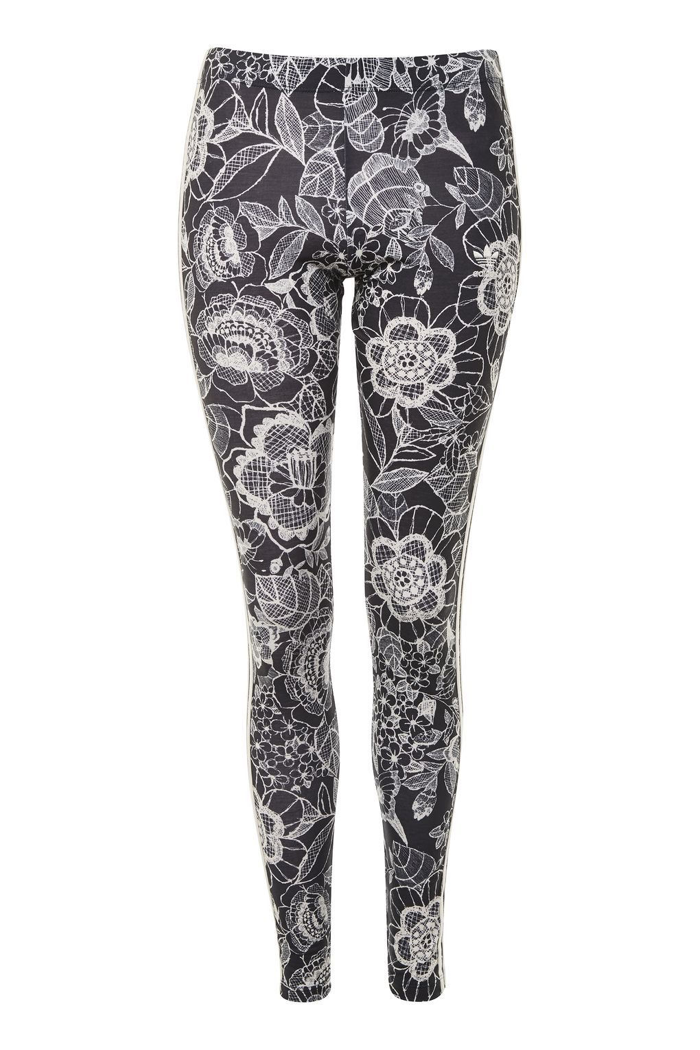 Active By Pinterest Originals Floral Adidas Leggings WxXnWg1
