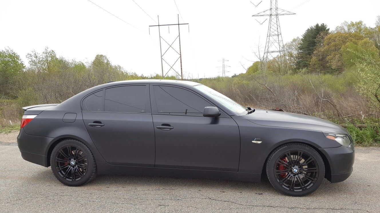 Halo EFX Gangsta Black removable auto paint on this 5 series BMW