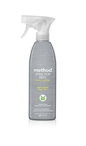 Method Naturally Derived Stainless Steel Polish Spray, Apple Orchard, 12 Ounce