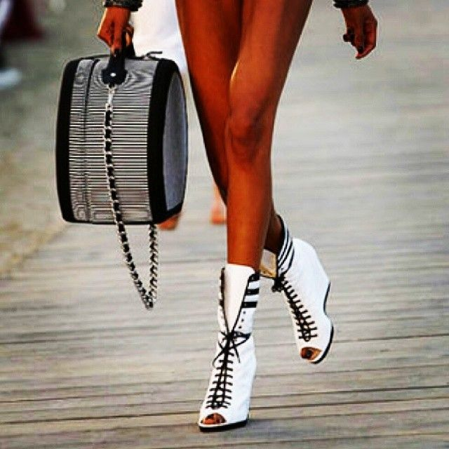Black and White Booties Shoes for Women You will like this - http://latestfashiontrendsforwomen.net/