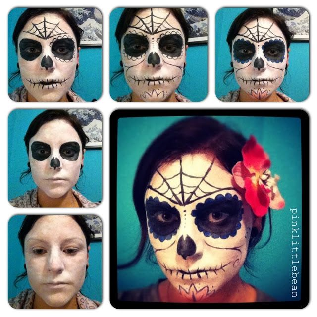pinklittlebean: halloween - day of the dead skull face paint