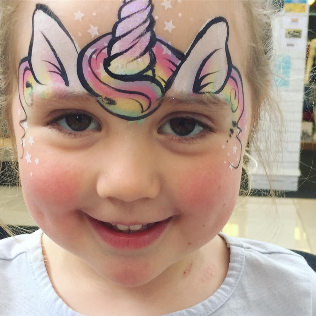 Fun Fast And Fabulous Face Painting By Daizydesign Facepainting Face Painting Unicorn Face Painting Designs Girl Face Painting
