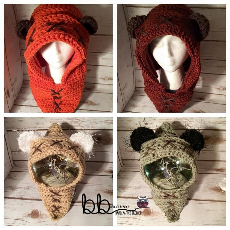 Ewok Hood from Star Wars | Ganchillo y Ideas