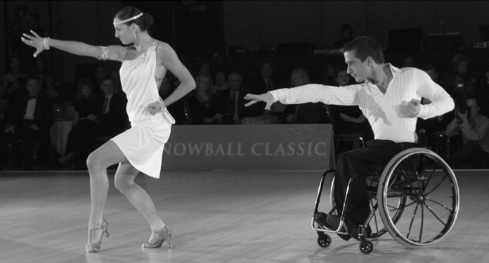 A Couple Competing In The Snowball Classic Wheelchair Dancing Competition Dance Like No One Is Watching Social Dance Just Dance