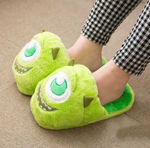 8a8bebee5a5 Fluffy Mike Wazowski slippers   Monsters Inc.