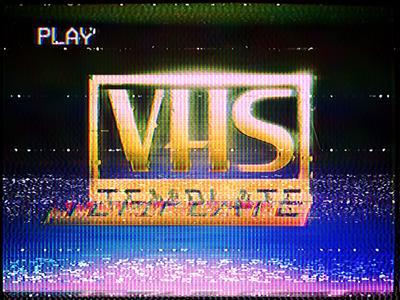VHS Effect Template | AKP GRAPHICS | Vhs glitch, Glitch
