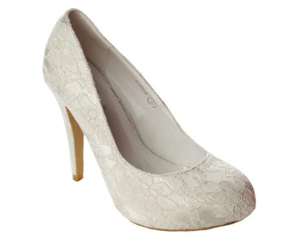 Ivory Lace Wedding Shoes Uk