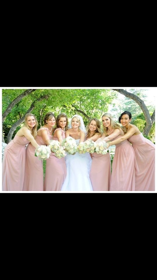David S Bridal Ballet Colored Bridesmaids Pink Bridesmaid