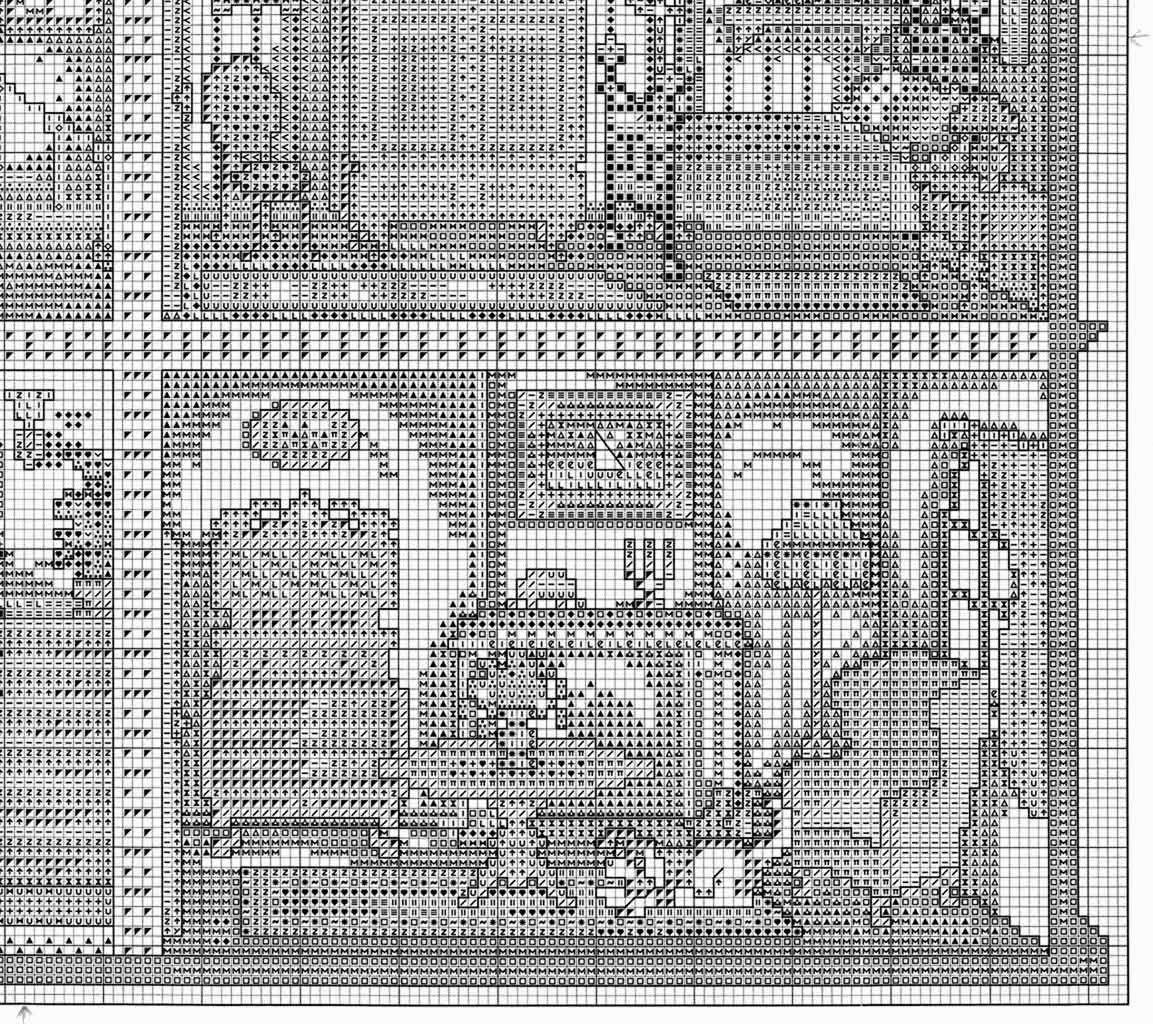 gráficos a punto de cruz, casa de muñecas | punto de cruz patrones ...