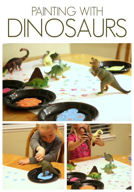Painting with Toy Dinosaurs Toddler Approved Dinosaur