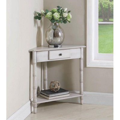 Breakwater Bay Peluso Console Table Corner Accent Table Entry Table With Drawers Table
