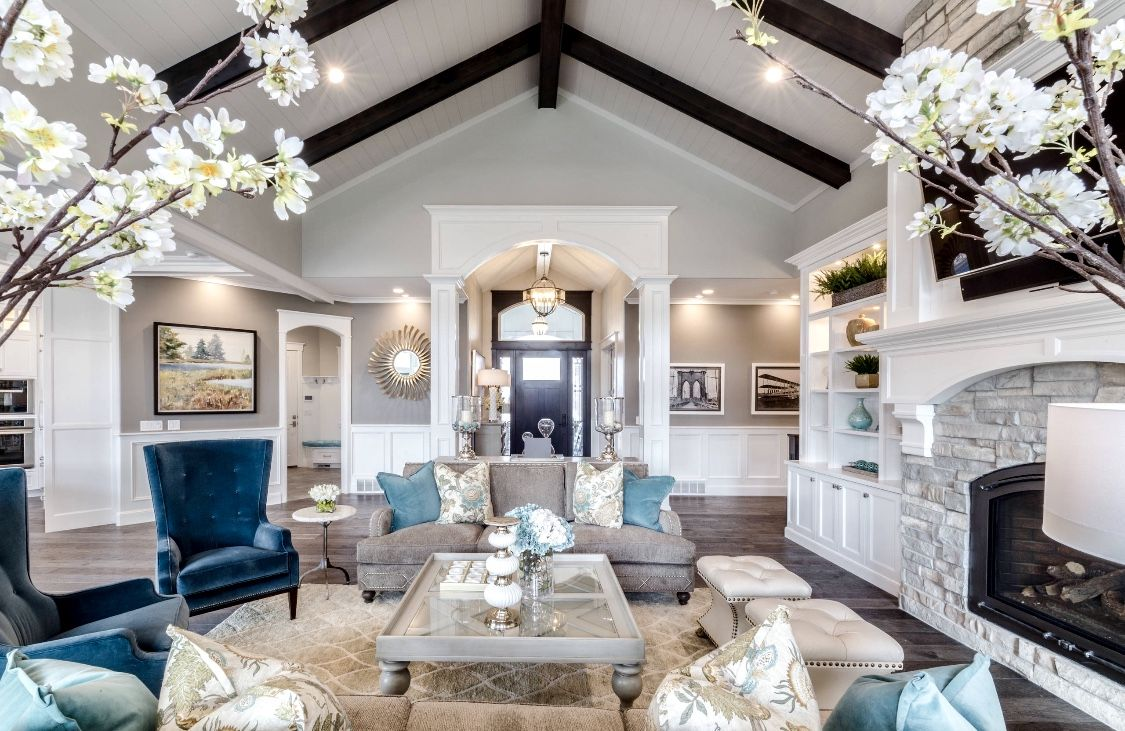 Majestic Grey And Blue Living Room Decor Hamptons Style Living Room Blue Living Room Decor Luxury Living Room