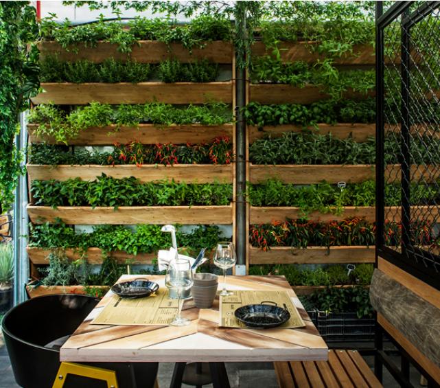 Segev kitchen garden restaurant  Restaurants  Pinterest  인테리어 컨셉 ...