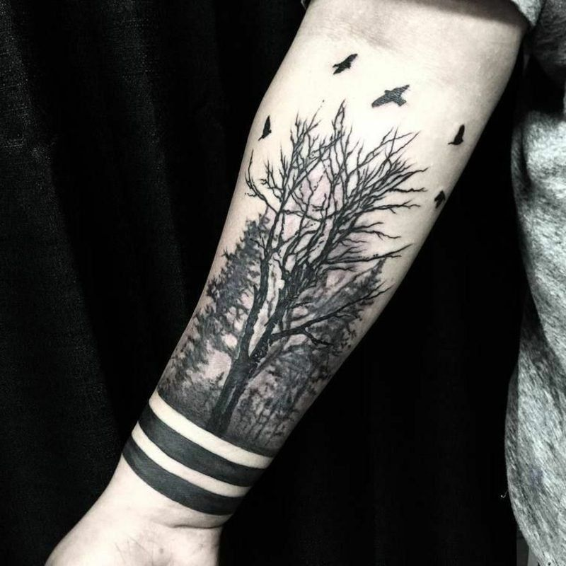 Forest Tattoo Symbolic Meaning Attractive Design Ideas Wald