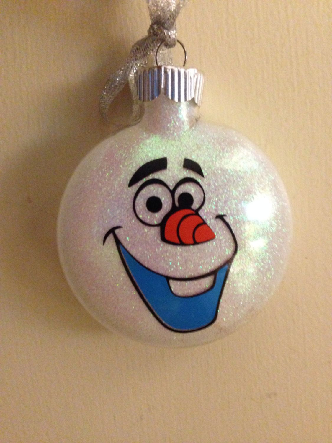 Custom name ornaments - Custom Disney Frozen Olaf Ornament With Name By Craftycuts4christmas On Etsy
