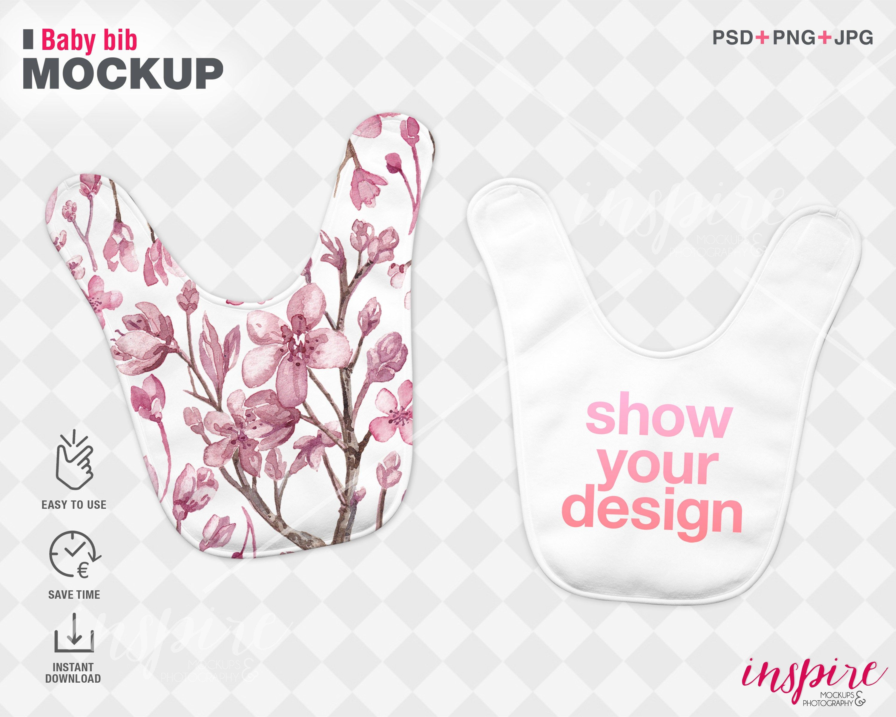 Double Baby Bib Psd Mockup Psd Smart Object Layers Add Etsy In 2021 Baby Bibs Mockup Banner Images
