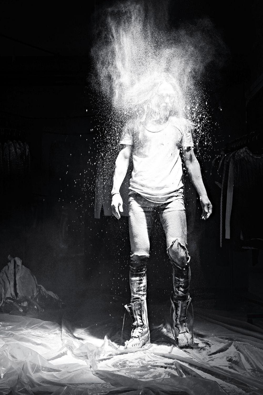 #byther #lookbook #throwback #powder #paint #bw #darksnap #darkwear #artist