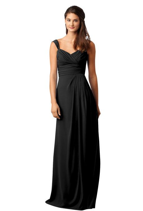 Black Bridesmaids Dresses We Love | Long bridesmaid dresses, Black ...