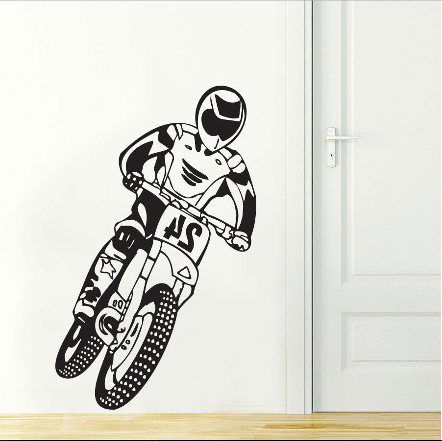 Cool Boy Home Decor Motocross Motorcycle Dirt Bike Bedroom Wall - Motorcycle tribal custom stickers designmotorcycle sticker tribal promotionshop for promotional