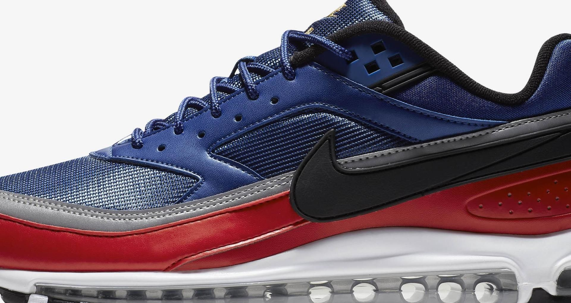 estafador Regeneración cafetería  Nike Air Max 97/BW 'Deep Royal Blue & University Red & Metallic Silver'  Release Date