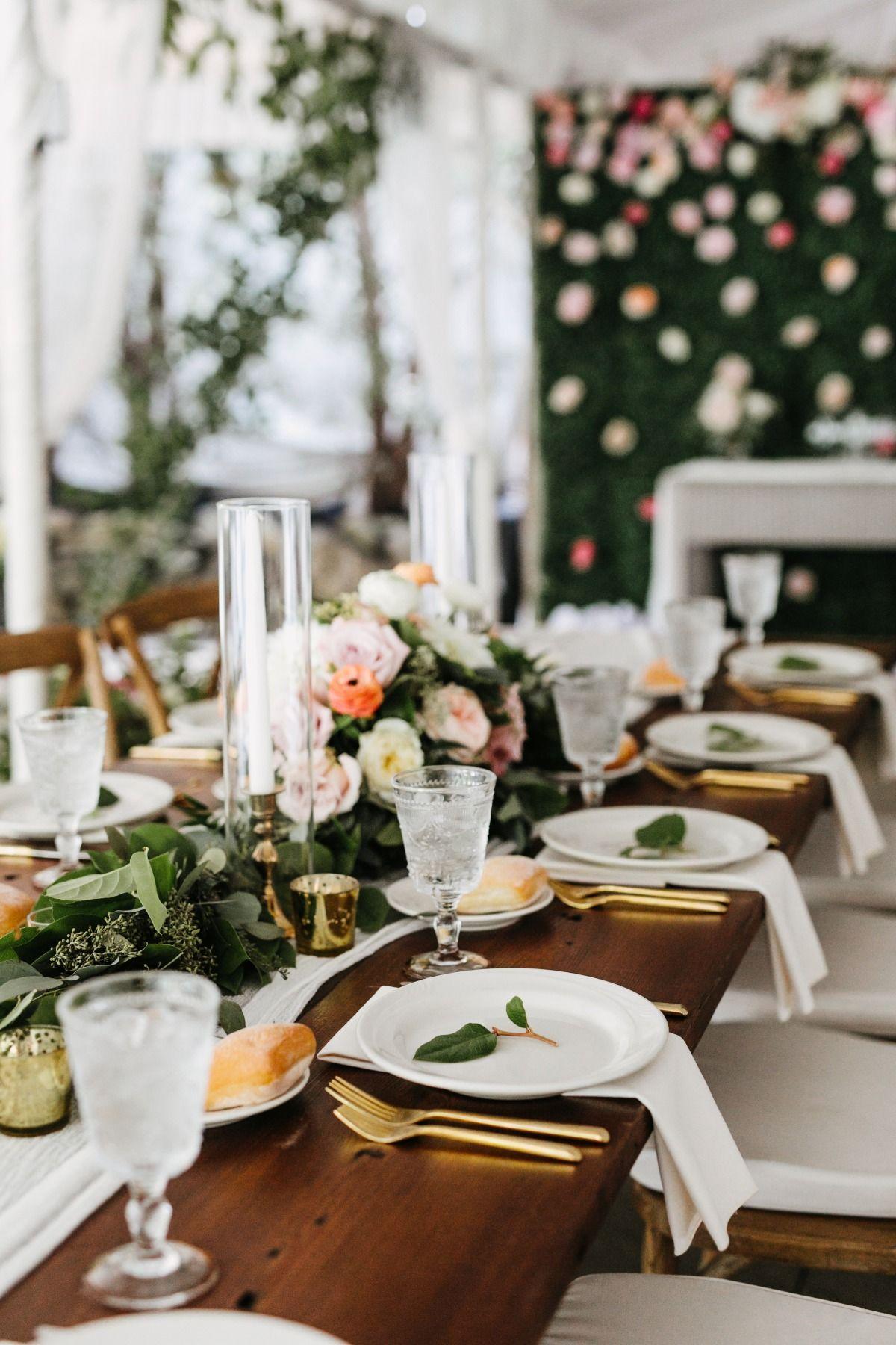 Totally Romantic Black Tie Garden Wedding Wedding Centerpieces