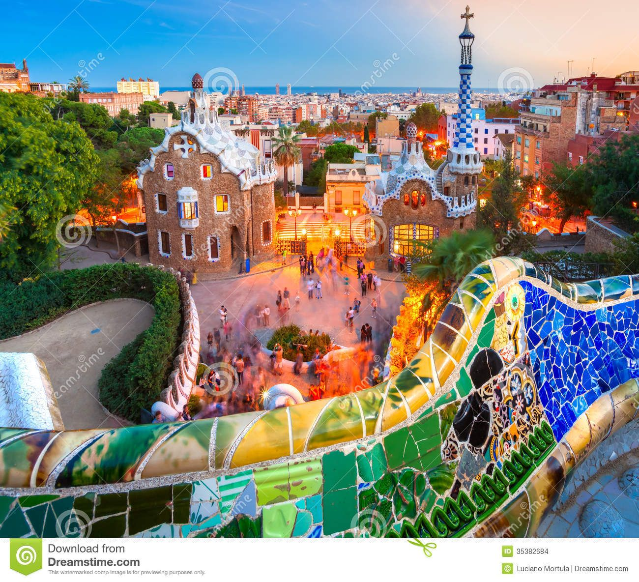park guell in barcelona spain travel barcelona travel best cities in spain wanderlust travel. Black Bedroom Furniture Sets. Home Design Ideas