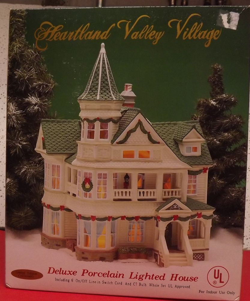 heartland valley village lighted house christmas village houses christmas villages valley village