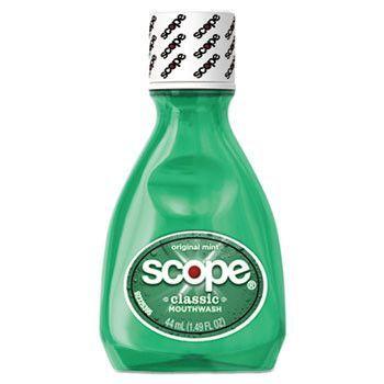 Mouthwash, Mint, 1.5oz Bottle, 180/carton