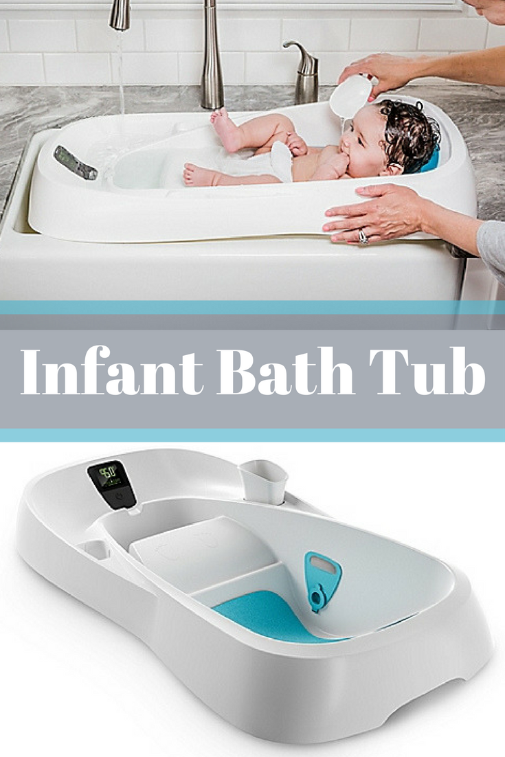 The 4moms Infant Bath Tub is designed for use with running water to ...