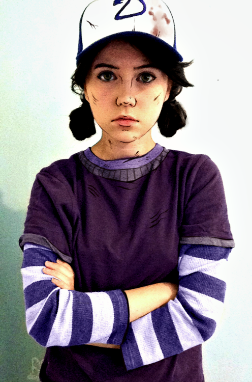 Clementine Cosplay (that's makeup!) [via smartaveragebears