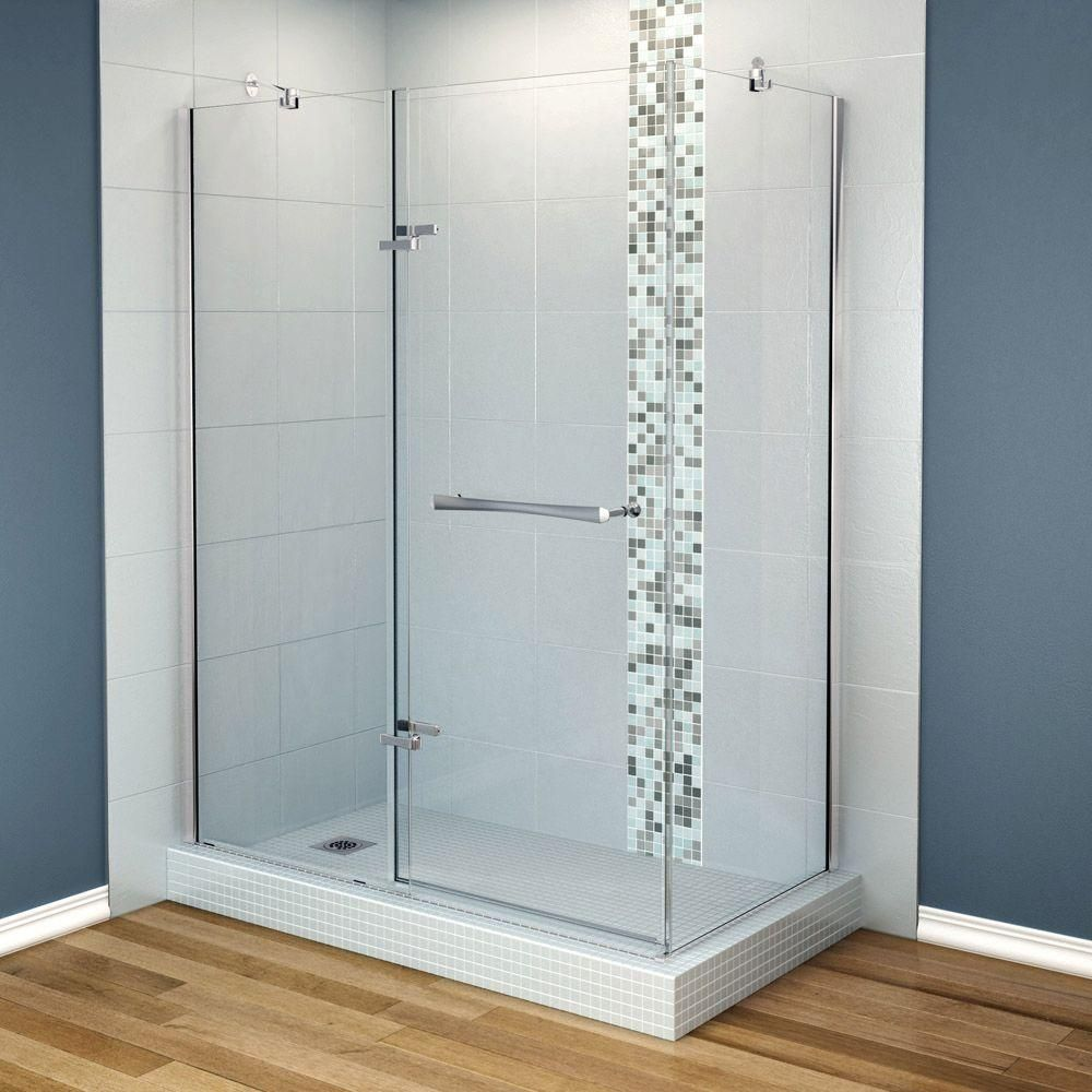 glass shower enclosures corner. MAAX Reveal 29 7 8 In  X 60 71 5 Corner Shower Enclosure With Chrome Frame And Clear Glass