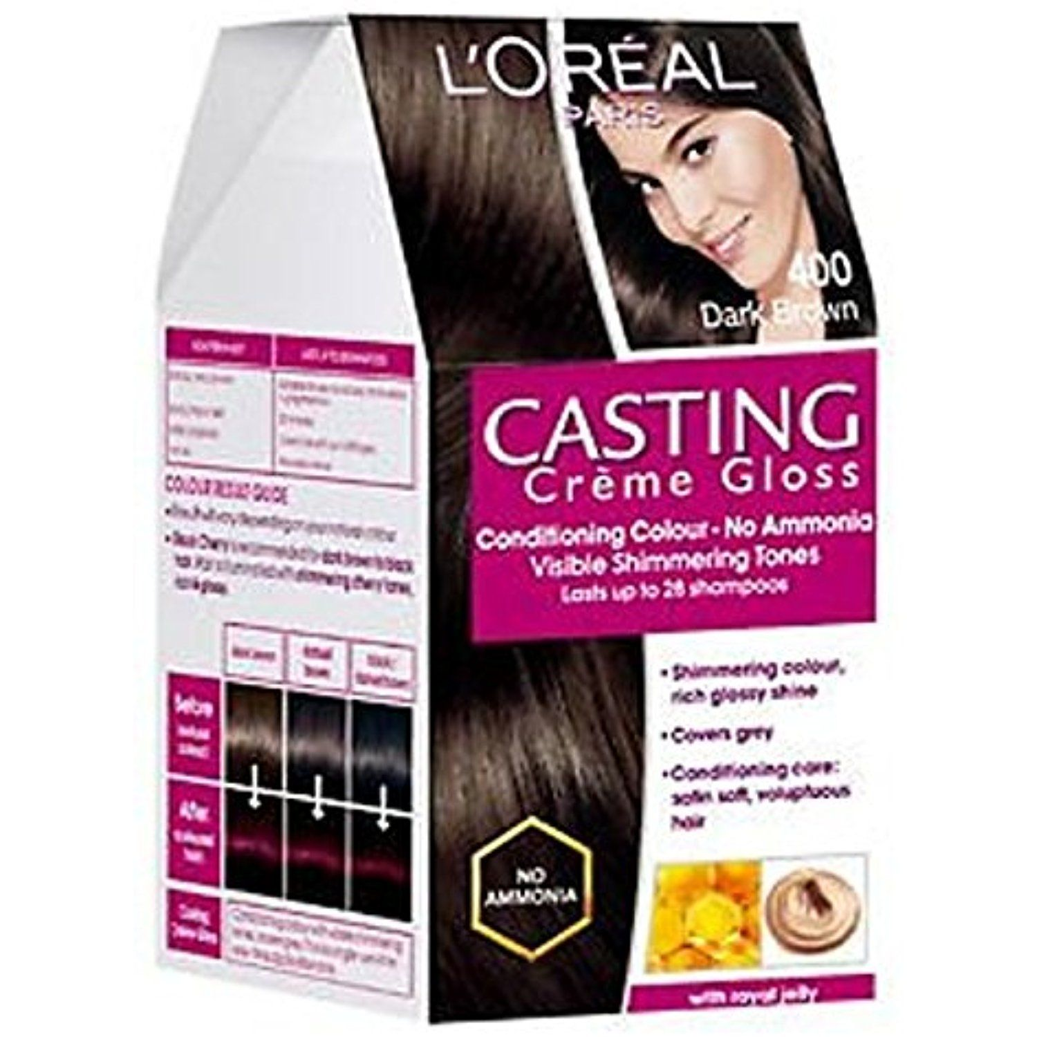 Loreal Casting Creme Gloss Hair Color Dark Brown 400 You Can