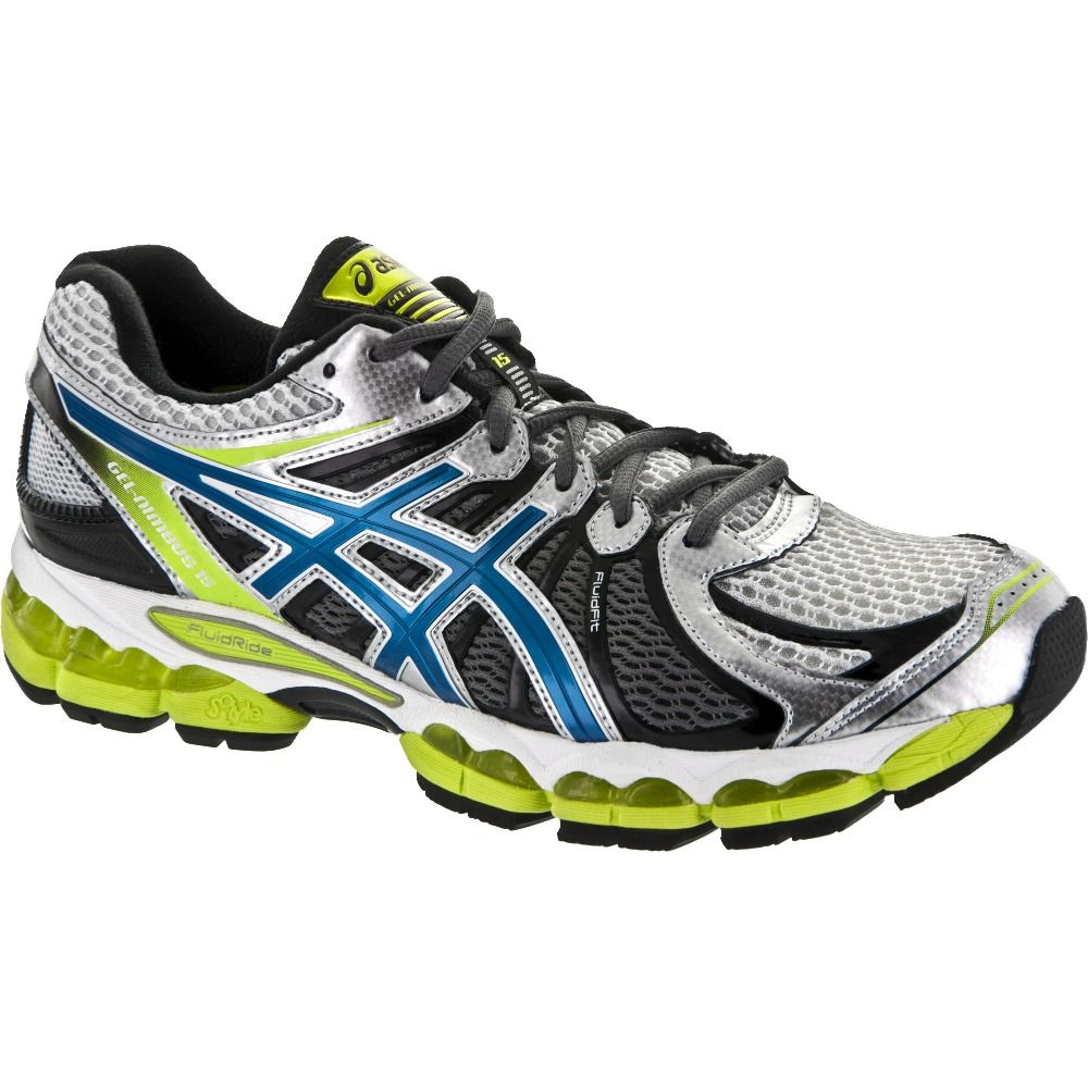 ASICS GEL-Nimbus 15: ASICS Men's Running Shoes Lightning/Blue Steel/Lime