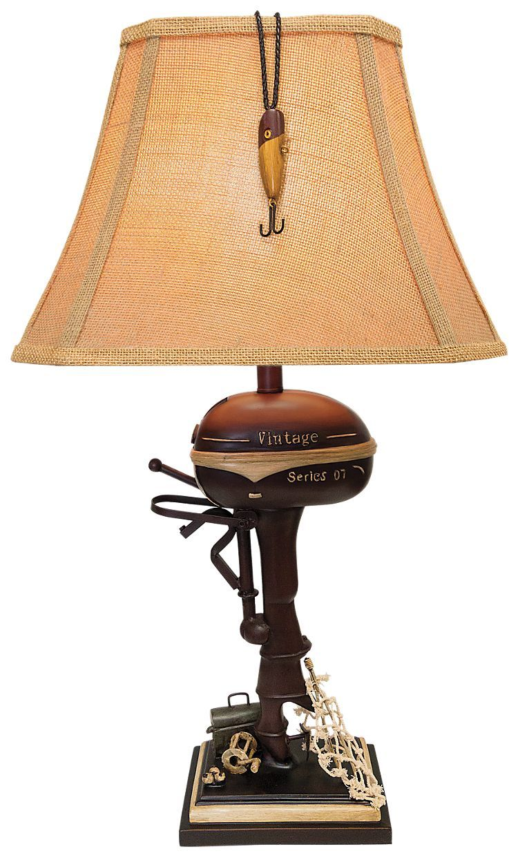 Boat motor table lamp boating boat motor table lamp geotapseo Image collections
