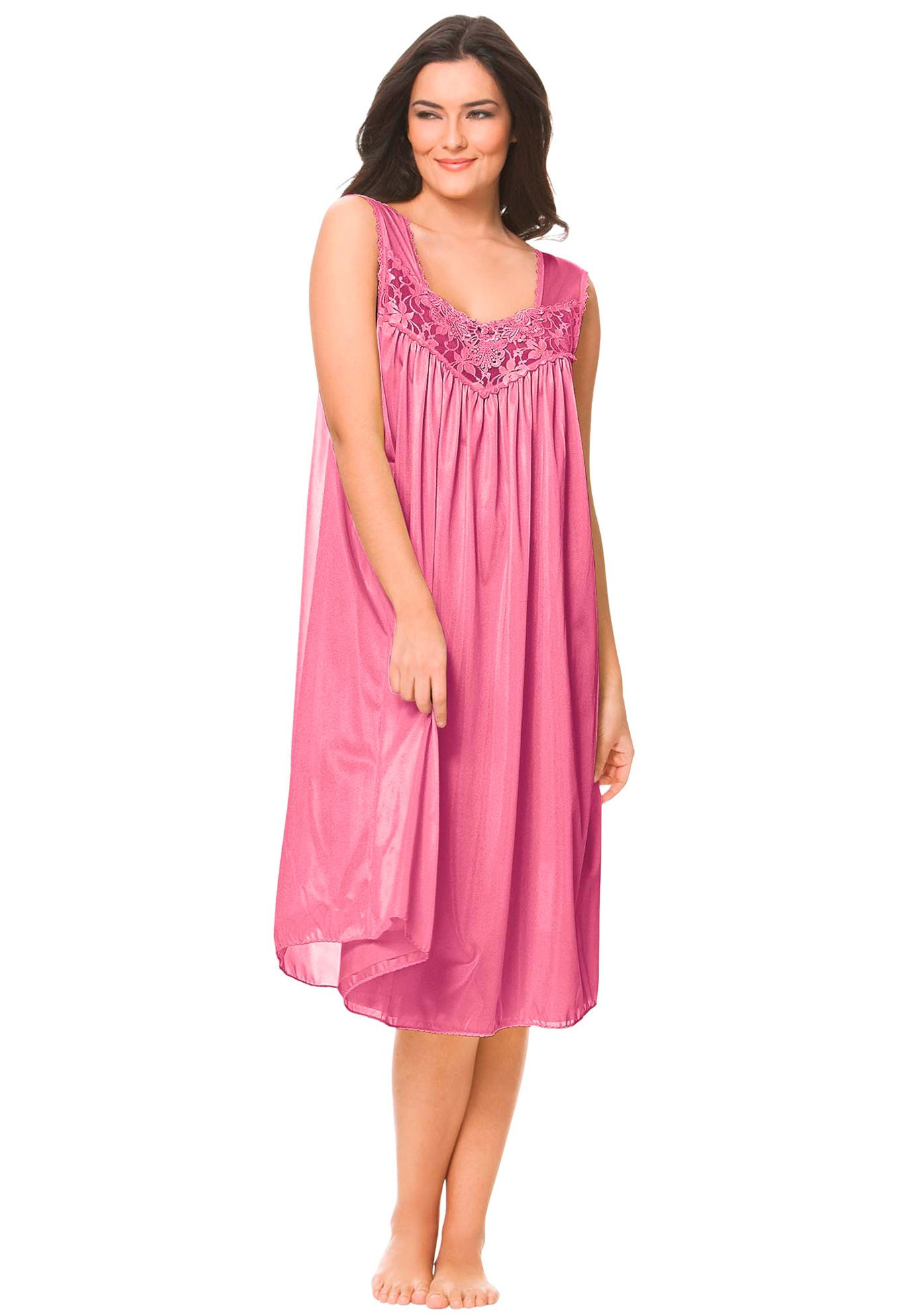 Tricot waltz-length nightgown by Only Necessities® | Plus Size ...