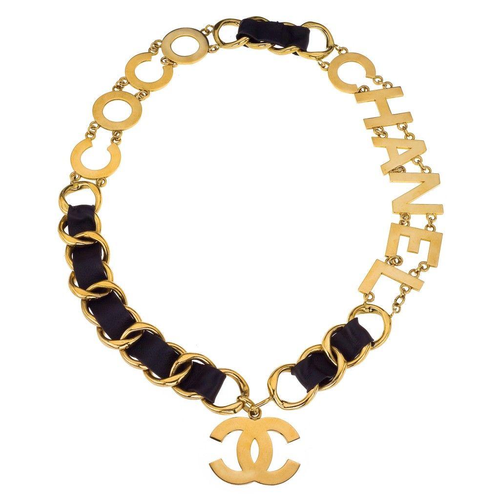 vintage chanel massive coco chanel belt necklace accessories details pinterest. Black Bedroom Furniture Sets. Home Design Ideas
