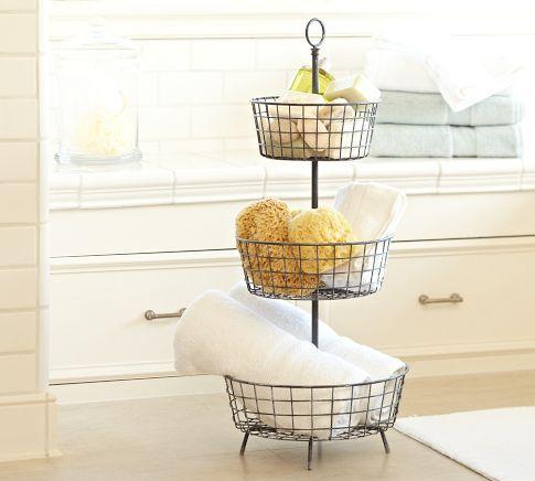 3 Tier Basket Stand For Bathroom Storage Home Bath Storage Small Bathroom Storage Bathroom Storage