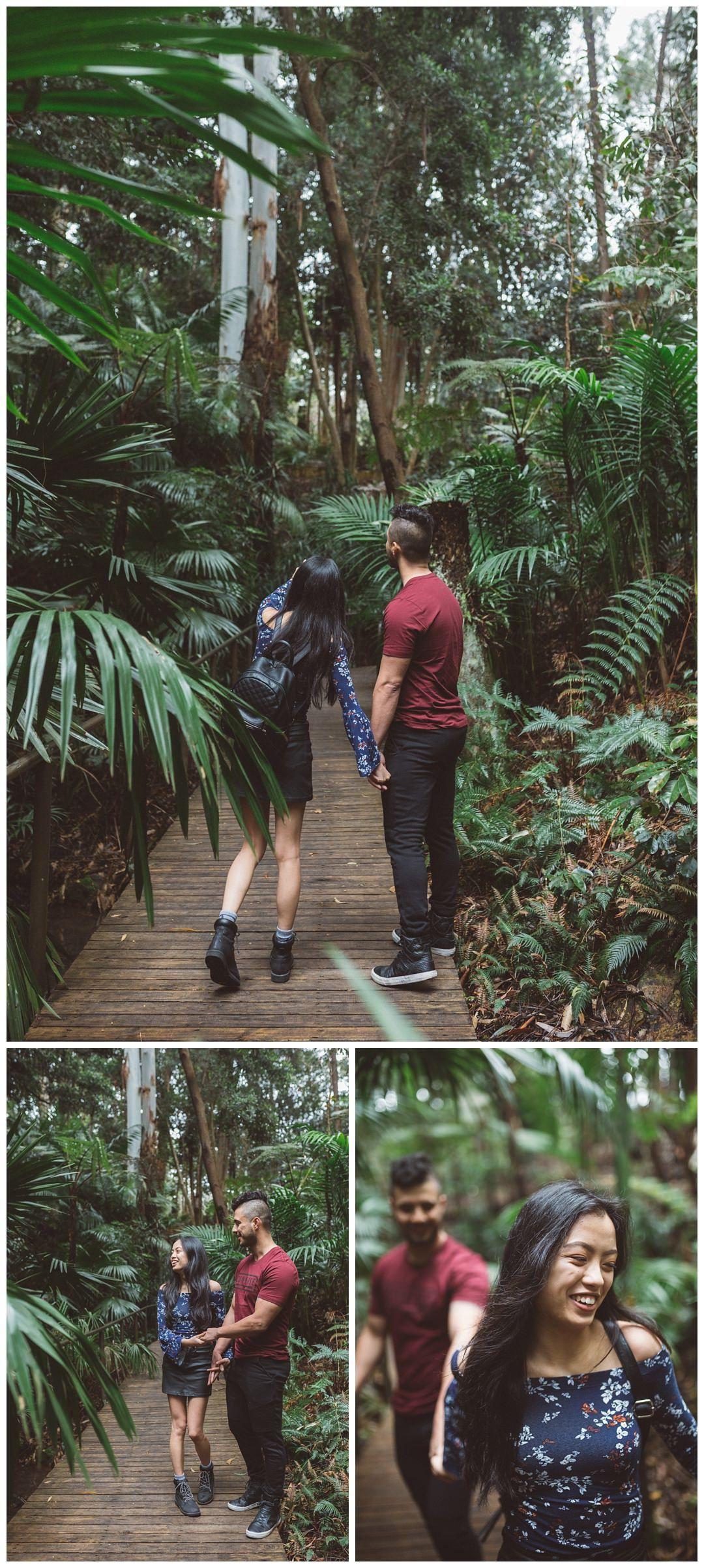 Australian National Botanical Gardens Couples Photoshoot
