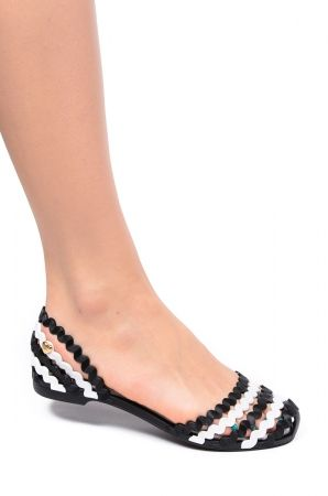 Mel 32143 Mel Sweetie Sp Ad 52792 Black White Jelly Shoes Black Black And White