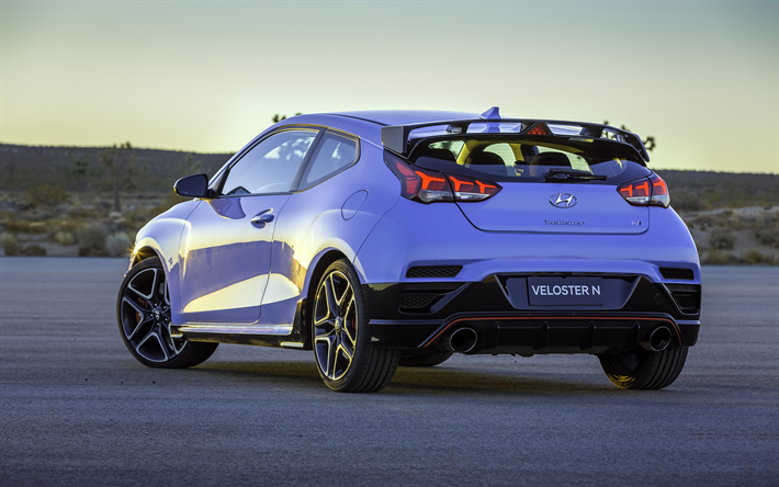 Download Wallpapers Hyundai Veloster N 2019 Sports Hatchback